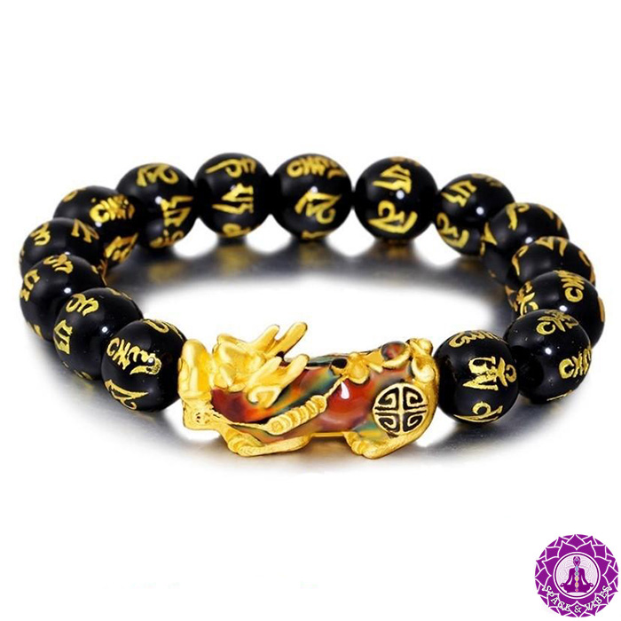 Pixiu color changing bracelet on a white background