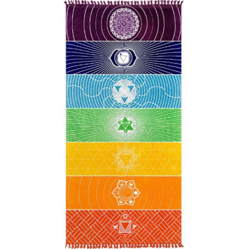 full size of tapestry in seven chakras colors