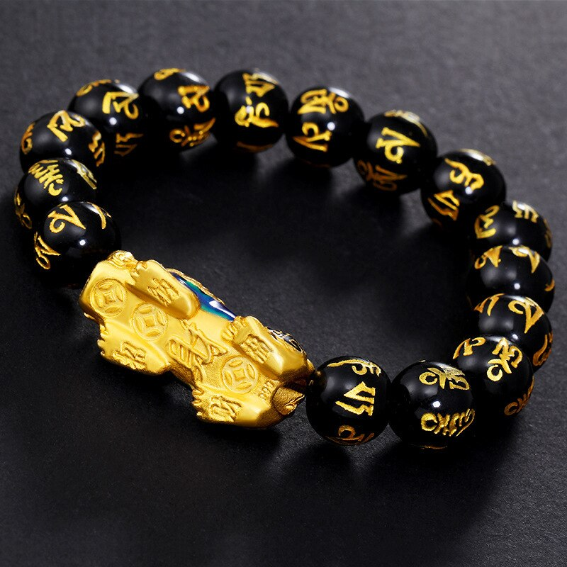 side view on Pixiu color changing bracelet pendant
