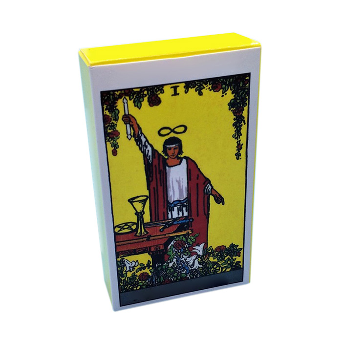 white box for tarot cards