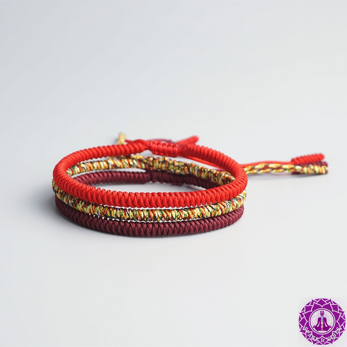 Buddhist monks rope knots lucky bracelet