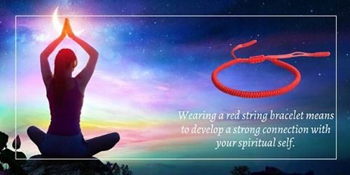 wearing a red string bracelet means to develop a strong connection with your spiritual self