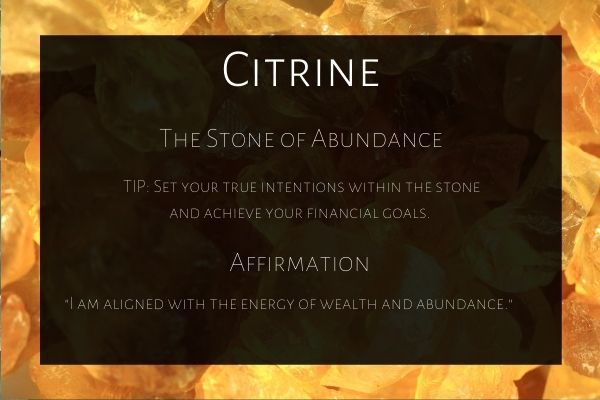 how to use citrine stone to attract money
