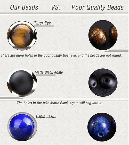 difference between real and fake chakra stones
