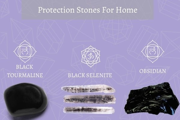 three protection stones for home