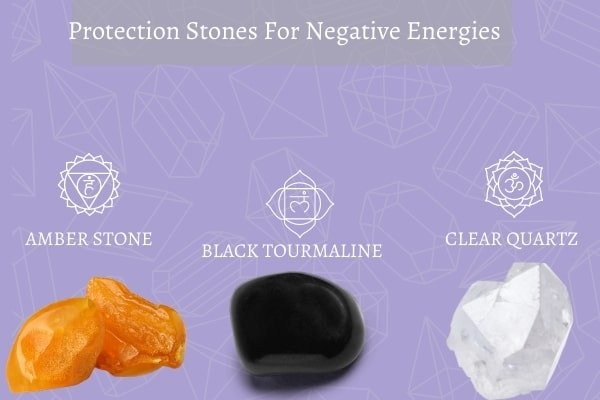 three protection stones for negative energies