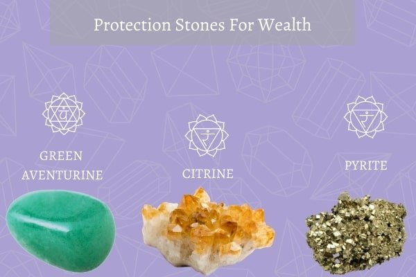 three protection stones for wealth