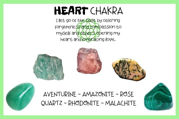 heart chakra affirmation and five best stones for heart chakra